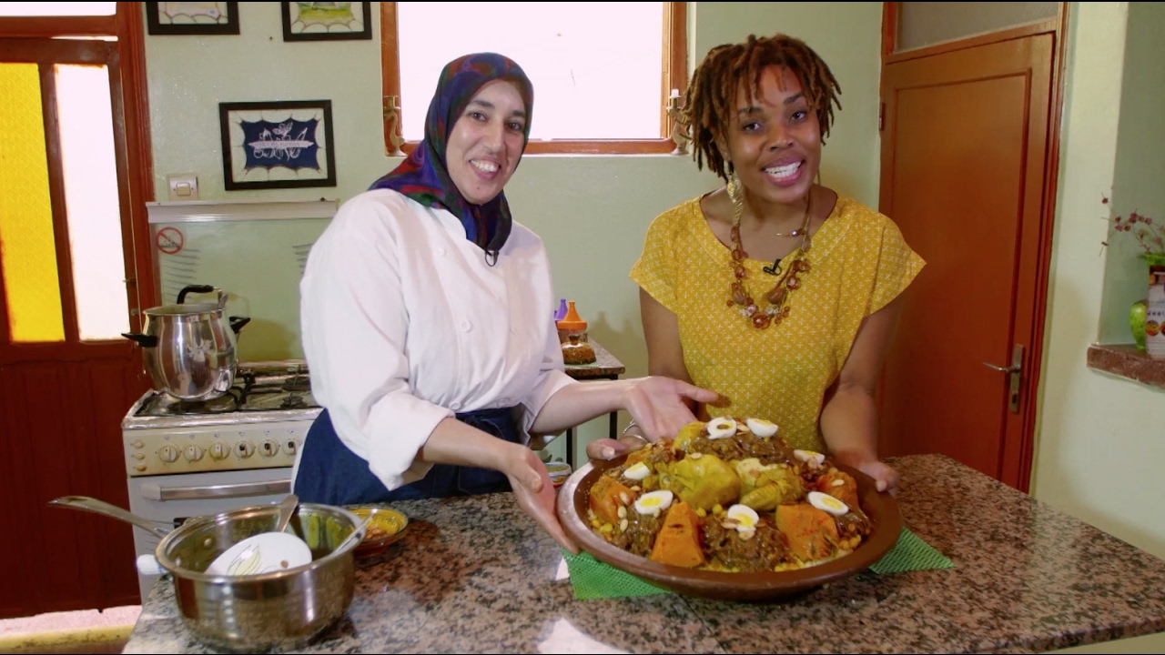 Cooking class with Khadija's Kuzina, Morocco - Africa on a Plate | The Africa Channel