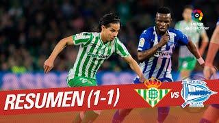 Resumen de Real Betis vs Deportivo Alavés (1-1)