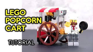 How to Build a LEGO Popcorn Cart