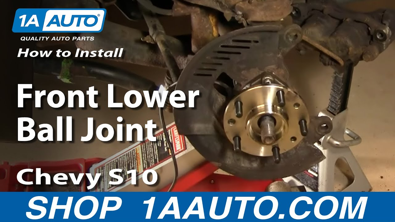 medium resolution of how to install replace part 2 front lower ball joint chevy gmc s 10 s15 1aauto com