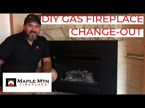 DIY Gas Fireplace Change-Out