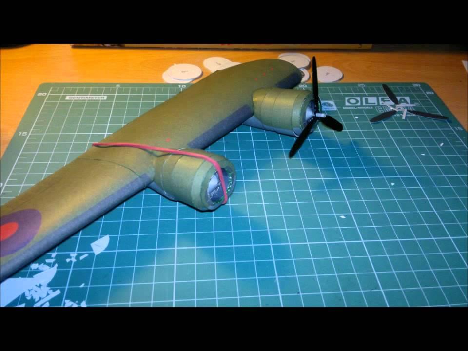 Papercraft Building Paper Model of  B - 24 Liberator