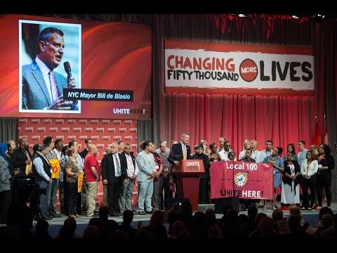 Mayor de Blasio Delivers Remarks at UNITE HERE Constitutional Convention 2014