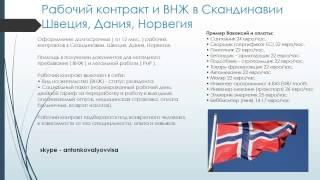 Рабочий контракт в Скандинавии. ВНЖ в Норвегии, Дании, Швеции(, 2015-01-15T14:52:06.000Z)
