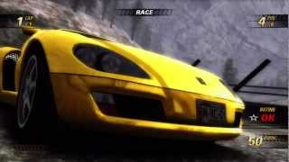 Burnout Revenge White Mountain Race with replay 720P gameplay Xbox 360