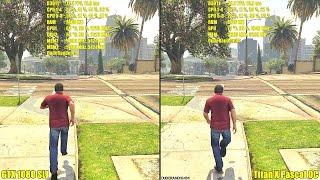 Titan x pascal overclocked vs gtx 1080 sli stock 4k gta 5 ultra settings frame rate comparison