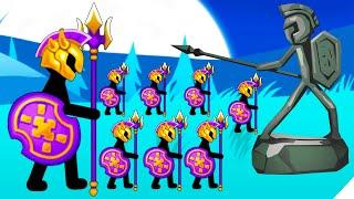 АРМИЯ ЗОЛОТЫХ СПАРТАНЦЕВ! - Stick War Stickman Battle Legacy 2020