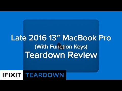 "Late 2016 13"" Macbook Pro (With Function Keys) Teardown Review!"