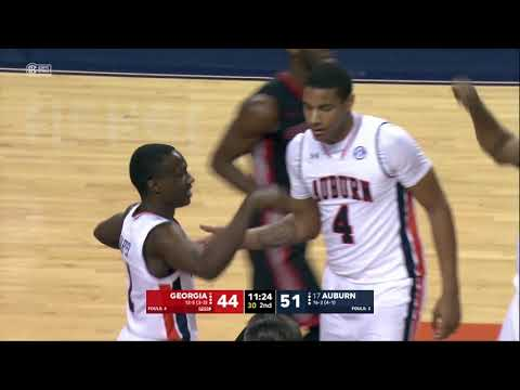Auburn Men's Basketball vs Georgia Highlights