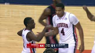 Auburn Men's Basketball vs Georgia Highlights