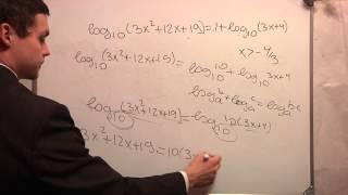 ЕГЭ математика. В5 .Логарифм. Видео урок. Ч5