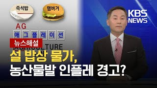 [뉴스해설] 설 밥상 물가, 농산물발 인플레 경고? / KBS 2021.02.09.
