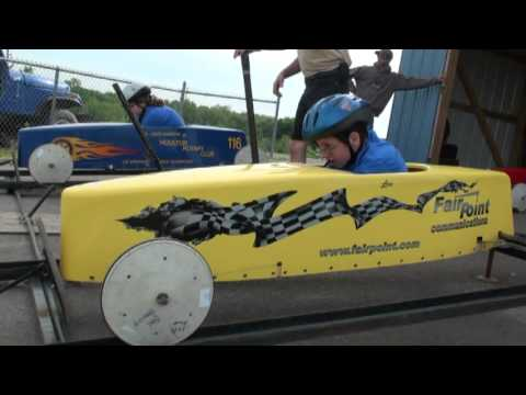 Soap Box Derby Racing In Houlton Maine   Maine State 2013, 18th Race Video