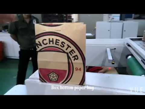 RZFD-190 KFC paper bag machine with 2 colors online for thailand client