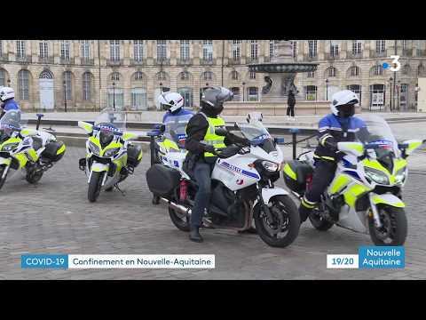 Contrôles de police a Bordeaux avec les attestations de déplacement dérogatoire