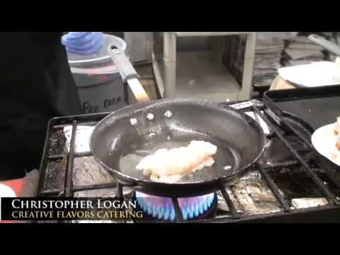 Christopher Logan of Creative Flavors Catering - Live California Spiny Lobster