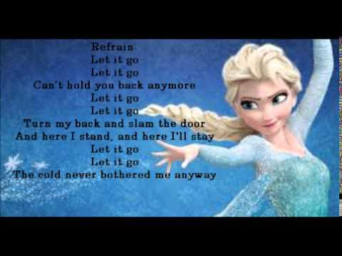 Demi lovato let it go paroles youtube - La reine des neige en anglais ...