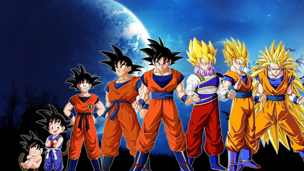 Dragon Ball Z: All Goku Transformations And Forms 2017 Edition ...