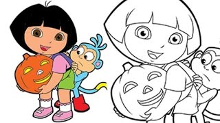 Dora The Explorer ★  How to draw DORA