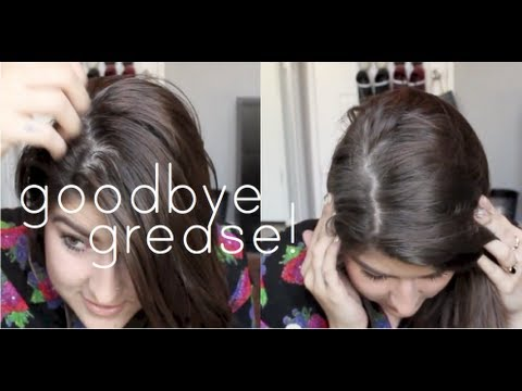 get rid of greasy hair! (without dry shampoo). ☠ - YouTube