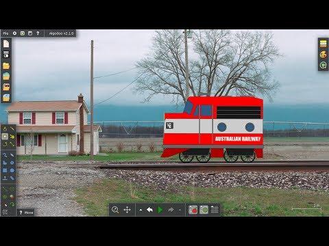 "Algodoo- Building ""Trainz Trouble"""