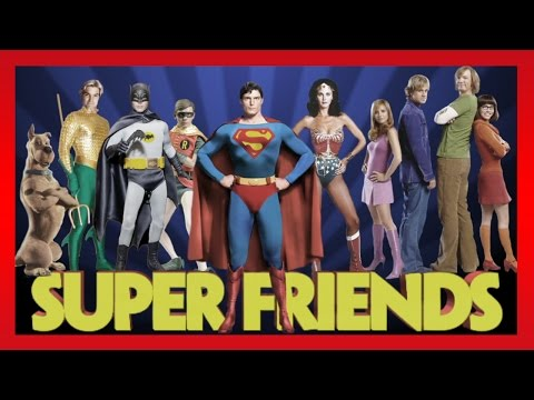 Live Action Super Friends 1973 Justice League : Superman, Batman, Wonder Woman,  and Scooby Doo