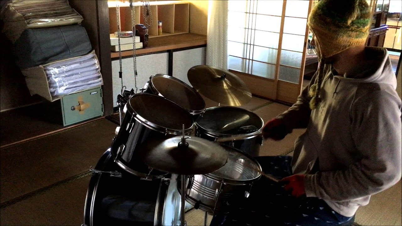 田舎 母屋 ドラム サウンドチェック