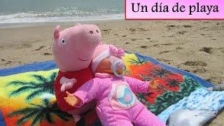 peppa pig y la bebe nenuco van a la playa   vdeos de peppa pig en espaol