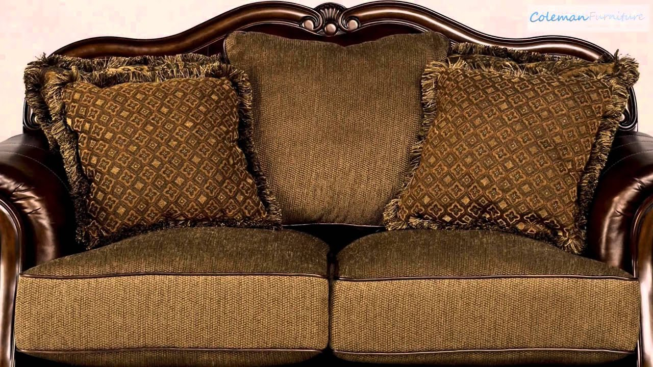 claremore antique living room collection from signature ashley signature design larkinhurst sofa ashley furniture signature design - darcy sofa chaise