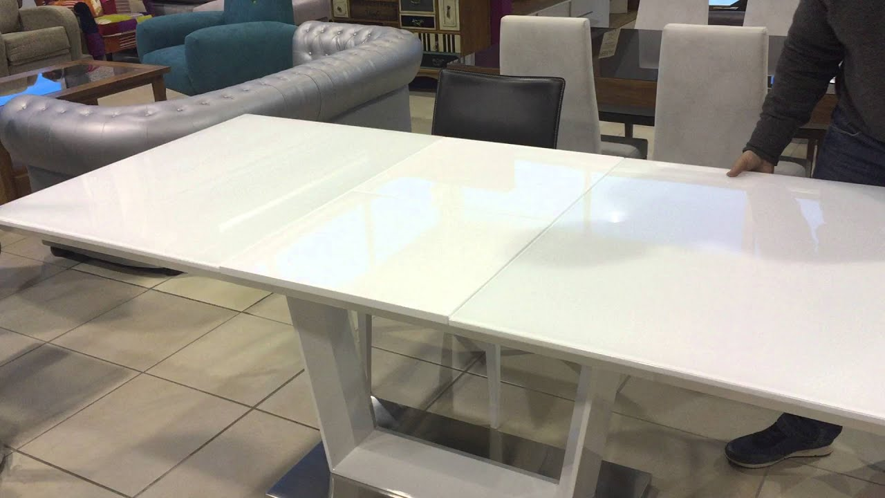 Mesa comedor moderna extensible - YouTube