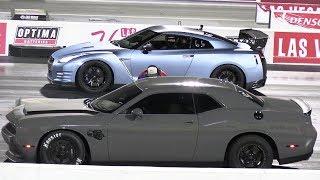GTR vs Dodge Chellenger SRT Scat Pack - drag race
