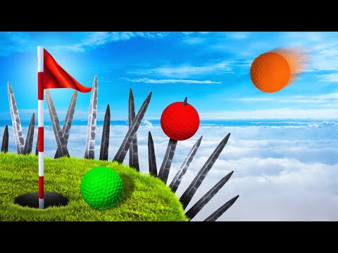 DODGE THE SPIKES TO WIN! (Golf It)