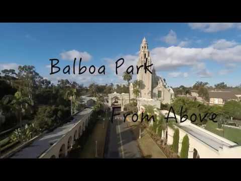 Balboa Park San Diego with drone