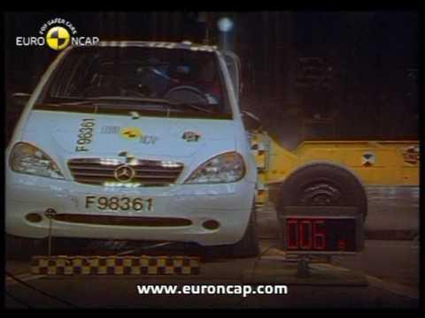 euro ncap mercedes benz a class 1999 crash test youtube. Black Bedroom Furniture Sets. Home Design Ideas