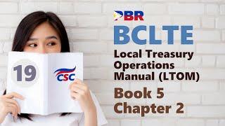 BCLTE - місцевих казначейських операцій керівництво (книга № 19 5 Глава 2)