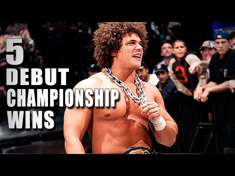 5 Debut championship wins - 5 Things, June 3, 2015: These five Superstars made an unforgettable first impression by winning a championship in their WWE in-ring debut. More ACTION on WWE NETWORK: http://bit.ly/MobQRl  Don't forget to SUBSCRIBE: http://bit.ly/1i64OdT