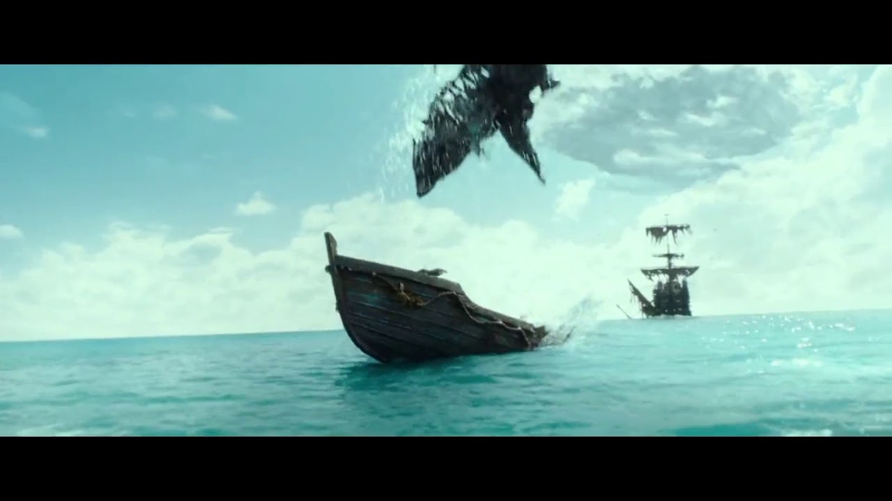 Download Pirates of the Caribbean: Dead Men Tell No Tales (2017) Ghost Shark Scene