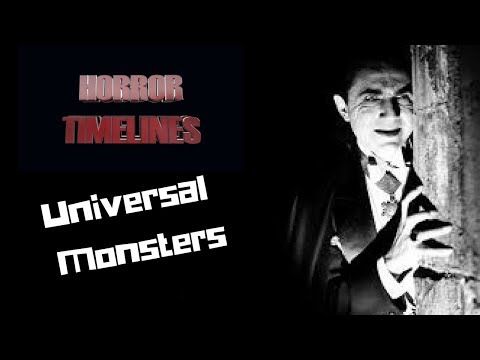 Horror Timelines Episode 21 : Universal Monsters (1 year Anniversary celebration)