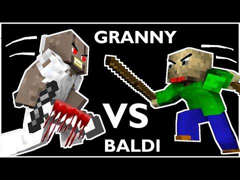 Monster School : BALDI'S BASICS VS GRANNY CHALLENGE ALL EPISODE 1 - Minecraft Animation