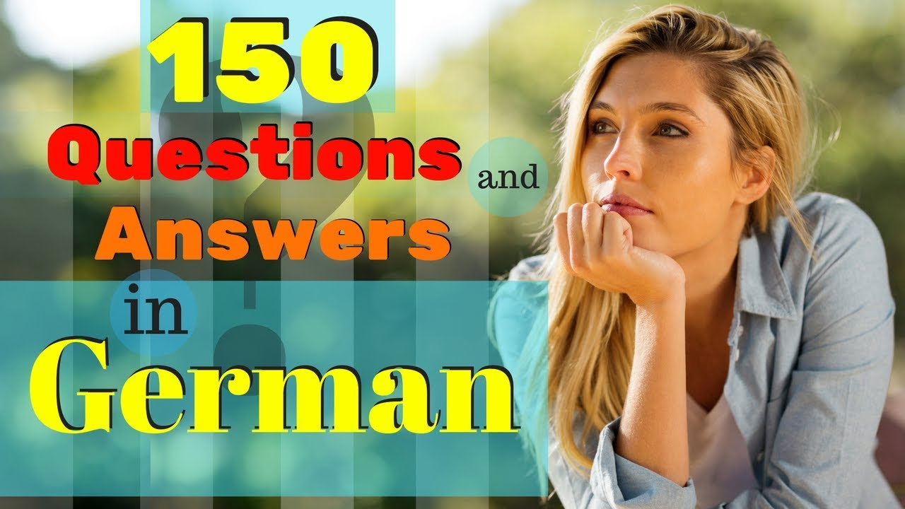 20 MOST COMMON Questions and Answers In German 🙋 How to Learn German  🤔