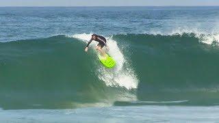 Surfing HEAVY shorebreak and GNARLY kickouts