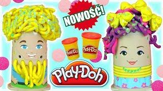 Play Doh • Fryzjer • Brokatowe fryzury • bajki dla dzieci