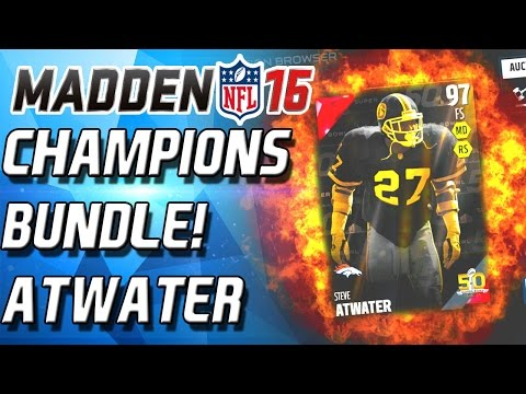 CHAMPIONS BUNDLE! STEVE ATWATER & JEFF SATURDAY! - MADDEN MOBILE - CULLENBRGER