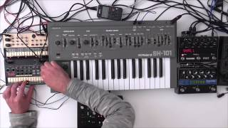 Roland SH 101  -  Electro Jam ( Dark Waves )