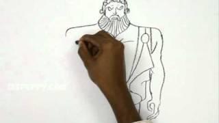 Simple Zeus Drawings Easy 3