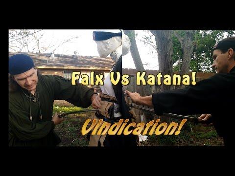 Dacian Falx Vs Japanese Katana Vindication! Padded Armor/Gambeson Test