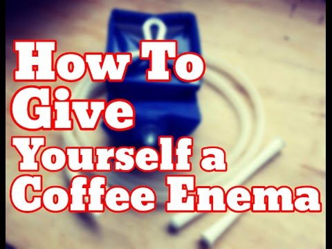 How To Give Yourself a Coffee Enema - Gerson Coffee Bean Enemas Therapy (Demonstration)