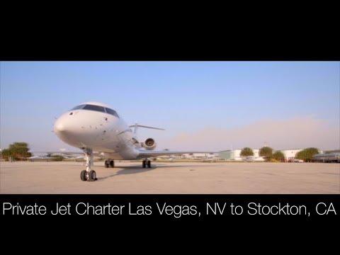Private Jet Charter Las Vegas, NV to Stockton, CA