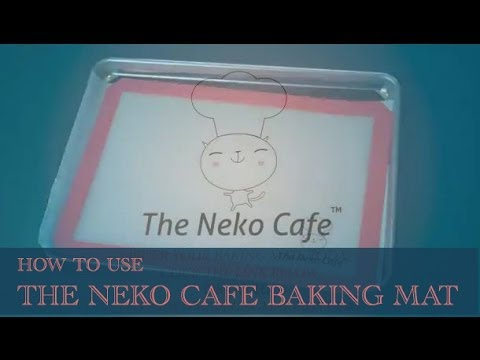 how to use your neko cafe silicone baking mat youtube. Black Bedroom Furniture Sets. Home Design Ideas