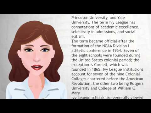 Ivy League - Wiki Videos